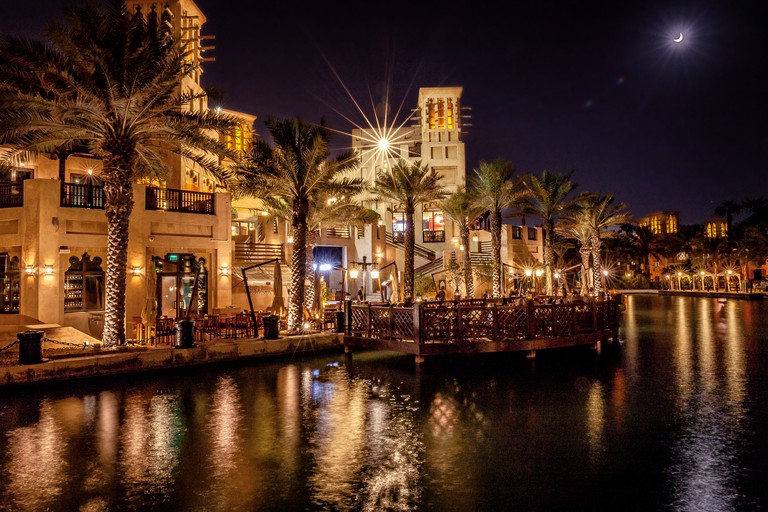 Madinat Jumeirah at the night