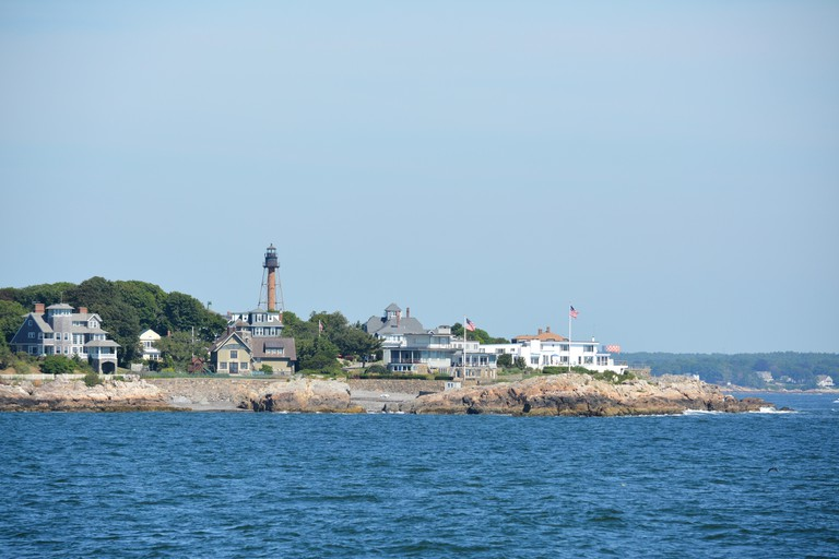 Marblehead Light on Marblehead Neck on the North Shore of Boston, Massachusetts.