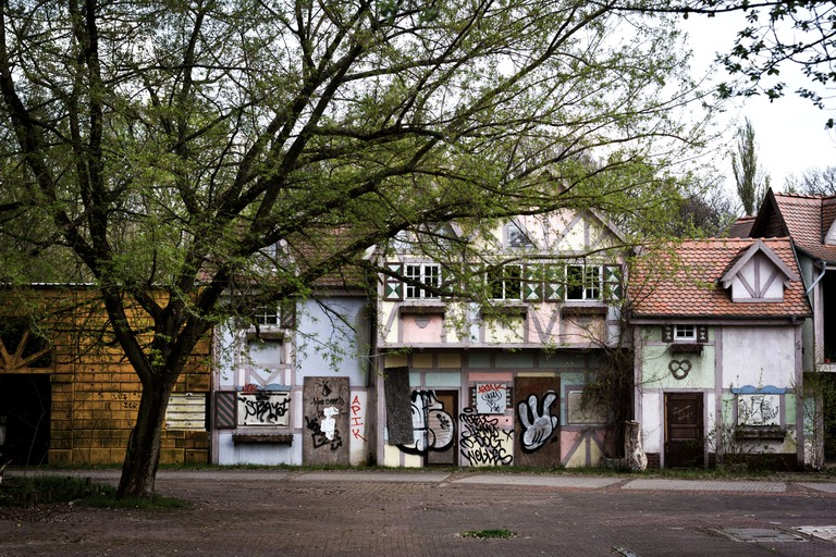 Disused attractions in the abandoned Spreepark in Berlin