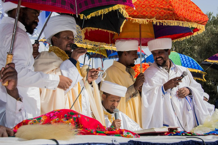 Ethiopian Jewish festival called Siged takes place in Israel.