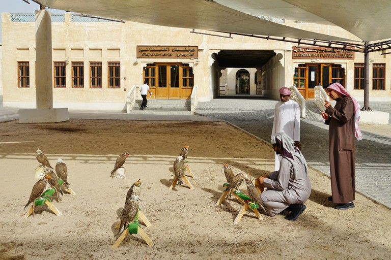 Located in the center of Doha, the Falcon Souq is a market selling live falcon birds and falconry equipment.