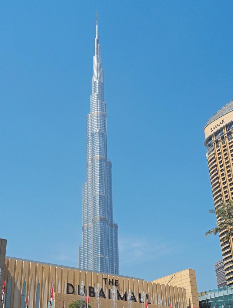 Burj Khalifa skyscraper, in Dubai, UAE.