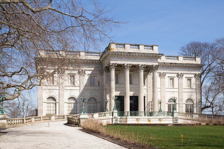 Exterior view of the historic Marble House in Newport Rhode Island