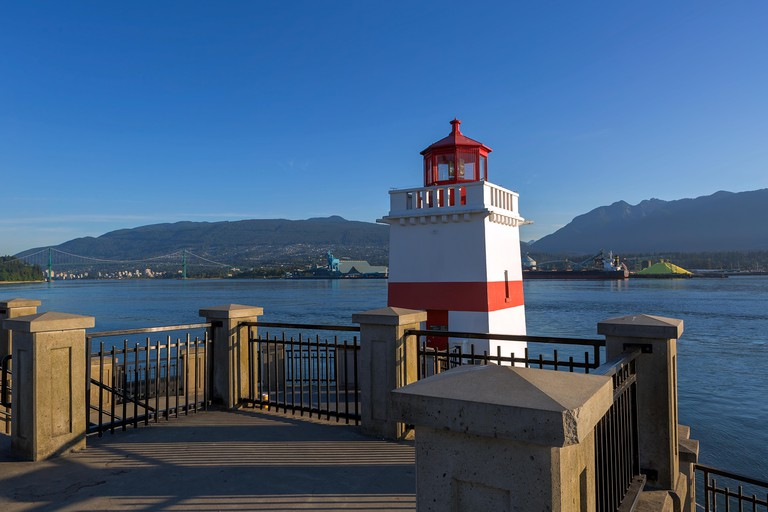 Brockton Point Lighthouse at Stanley Park in Vancouver
