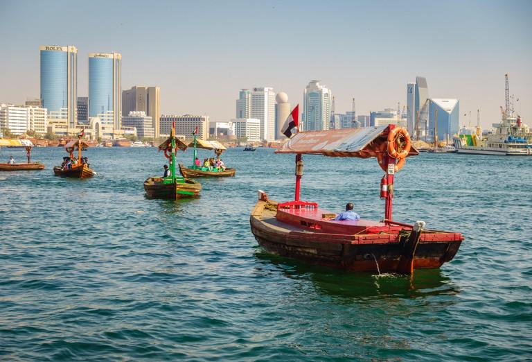 Abras make their way across Dubai Creek