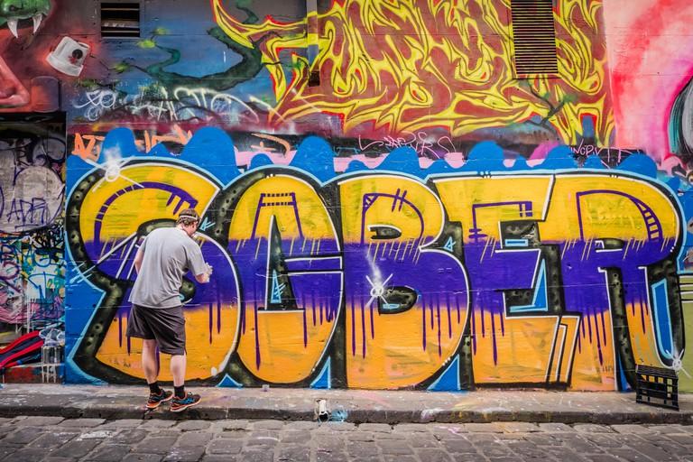 melbourne hoiser lane famous graffiti lane