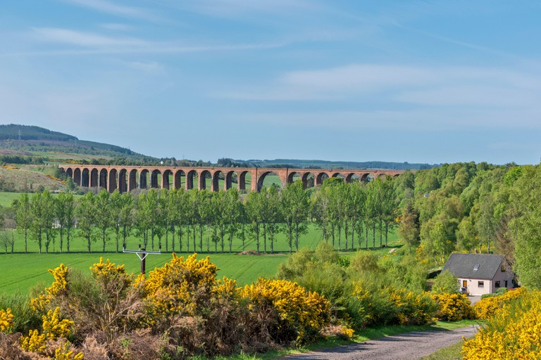 CULLODEN OR NAIRN VIADUCT HIGHLAND MAIN RAILWAY LINE MORAY SCOTLAND.