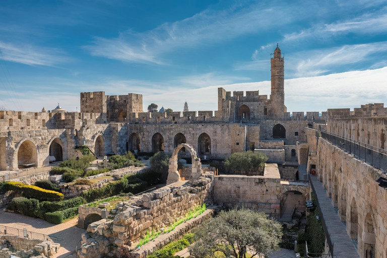 David's tower in old city of Jerusalem, Israel.