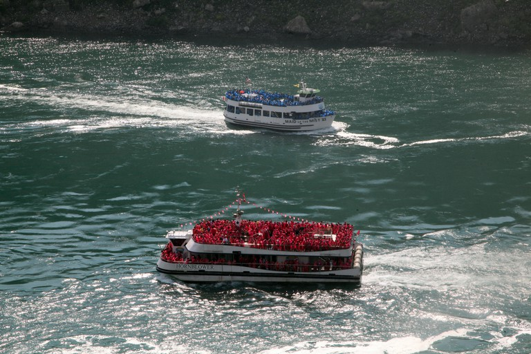 The Maid of The Mist VI & The Hornblower tourist boats at Niagara Falls, Ontario, Canada
