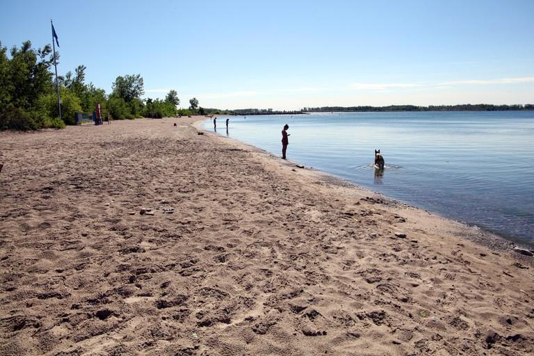 Wards Island Beach on Toronto Islands, Ontario, Canada