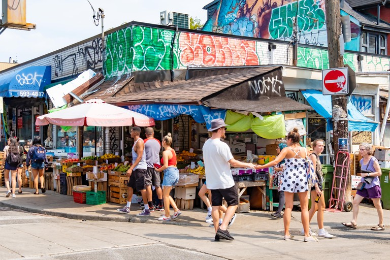 The Kensington District is a colorful area of Toronto filled with many eclectic shops and multicultural restaurants