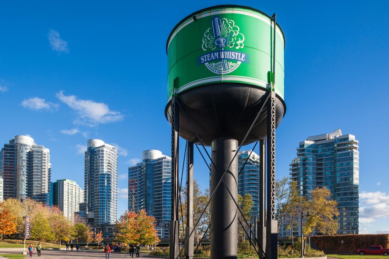 Steam Whistle Brewery, old railway water tower, Toronto.