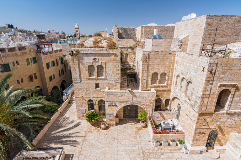 Buildings Of Jerusalem Old City, View From Hurva Synagogue, Israel