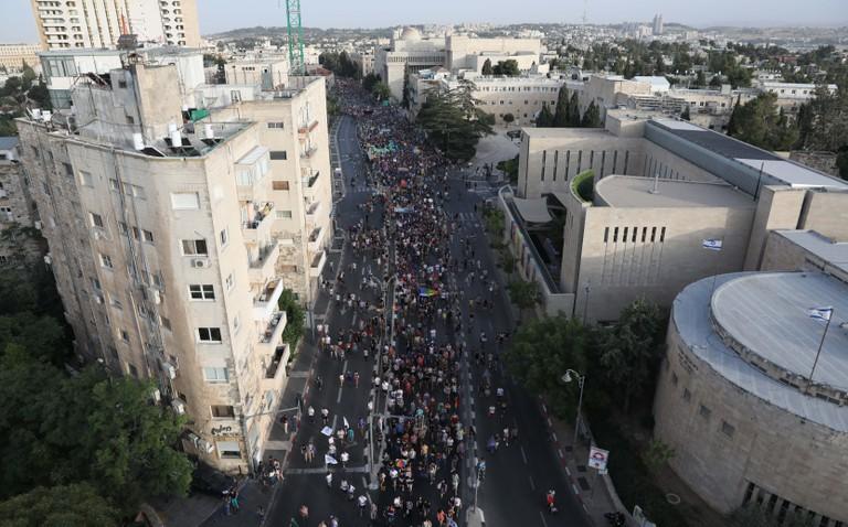Pride parade in Jerusalem, Israel - 06 Jun 2019