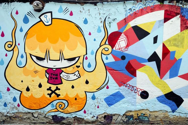 Graffiti at Haus Schwarzenberg, Berlin
