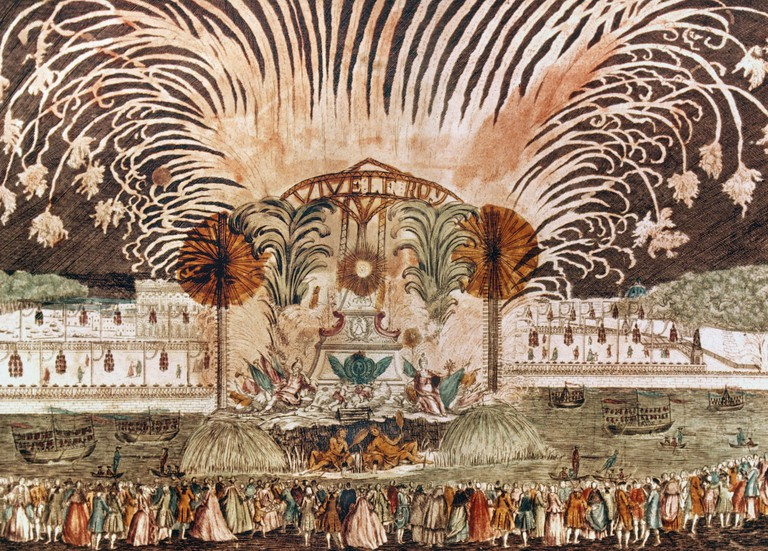 Fireworks In Paris To Celebrate A Coronation, 18th C