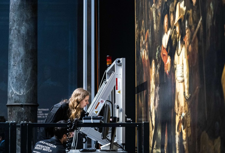 Amsterdam Restoration of the Night Watch begins, Netherlands - 08 Jul 2019