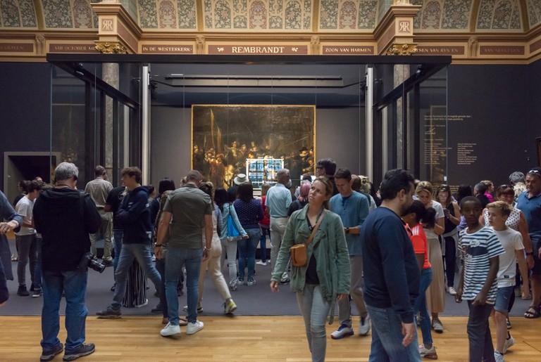 'The Night Watch' restoration, Rijksmuseum, Amsterdam, The Netherlands - 09 Jul 2019