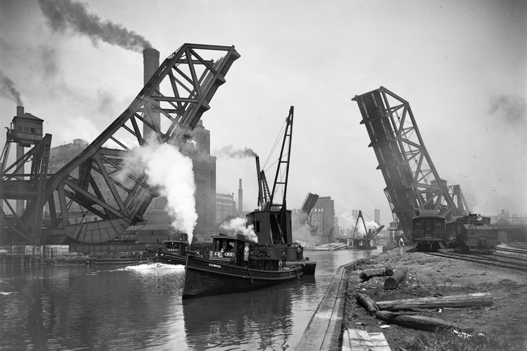 Chicago: Bridge, C1900.