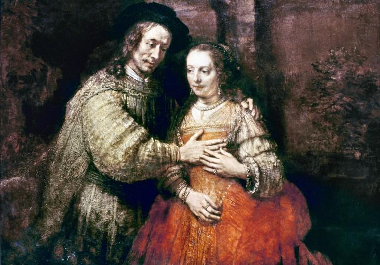 Rembrandt: Bride, 1665.