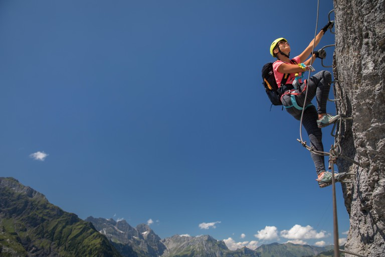 Try your hand at climbing a via ferrata