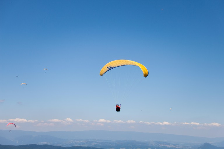 Paragliding is popular in the region
