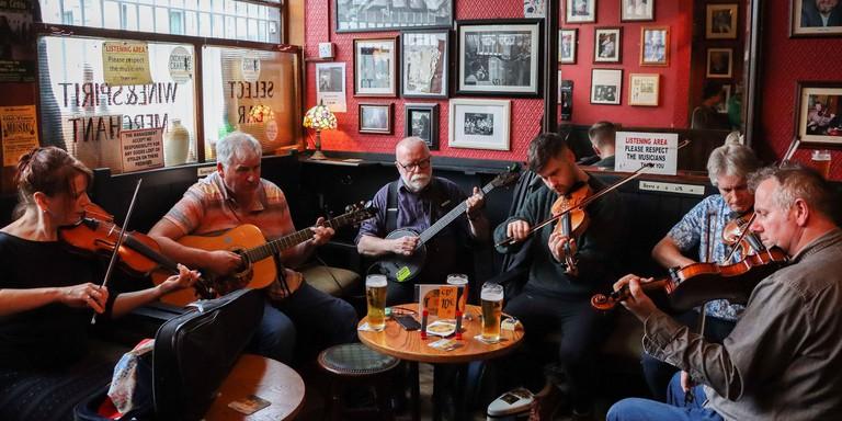The Cobblestone Irish music pub in Dublin