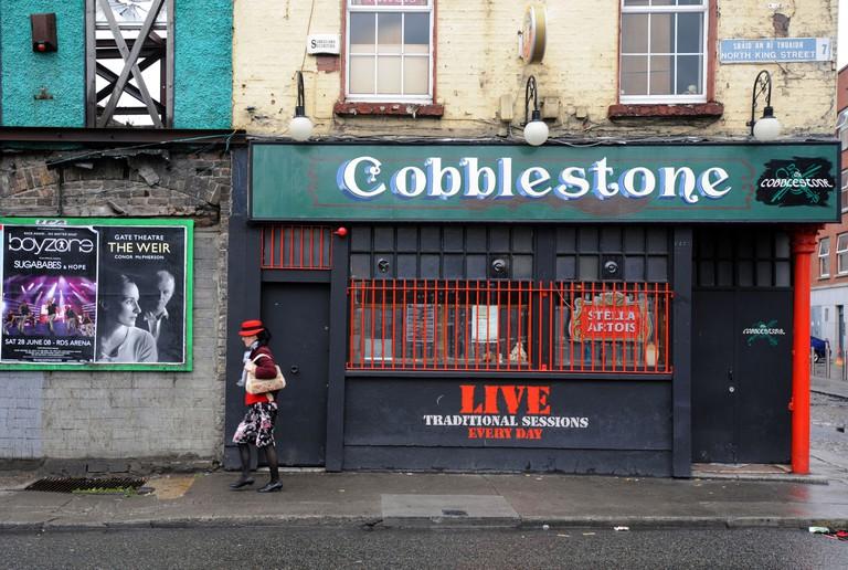 The Cobblestone pub in Smithfield Dublin