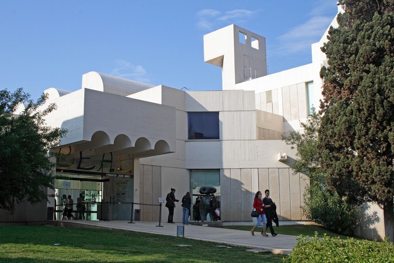 The Fundacio Joan Miro (Miro Museum) in the Montjuic Quarter of Barcelona, Spain.