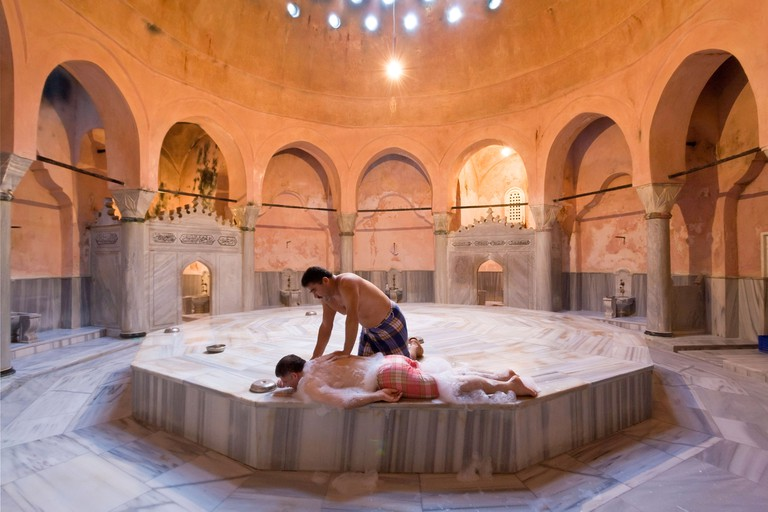 Traitional Turkish Bath or Hammam, Istanbul, Turkey