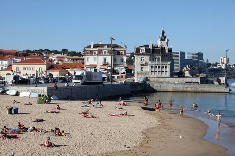 Amazing beach in Cascais, Estoril Coast, Portugal.