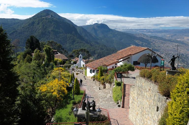 Bogota hills, Colombia.
