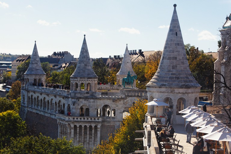 High Angle View of the Fisherman's Bastion, Budapest, Hungary