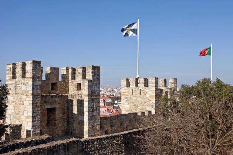 "Sao Jorge (St. George) Castle in Lisbon, Portugal. """