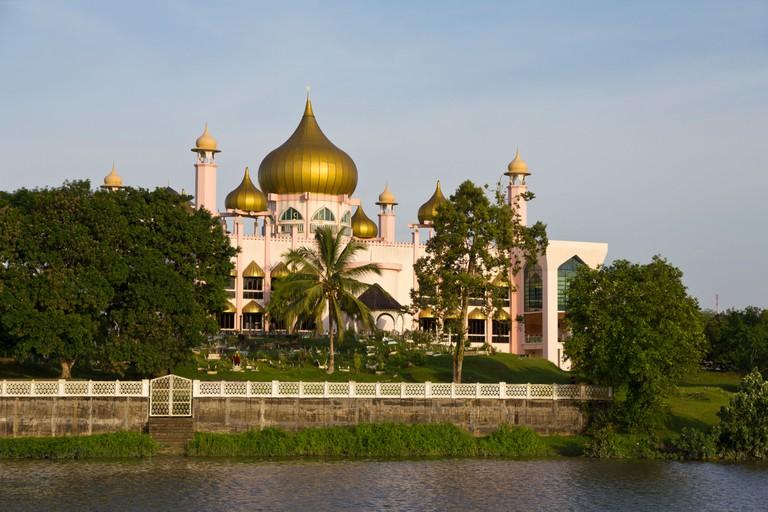 Sarawak State Mosque in Kuching, Borneo, Malaysia
