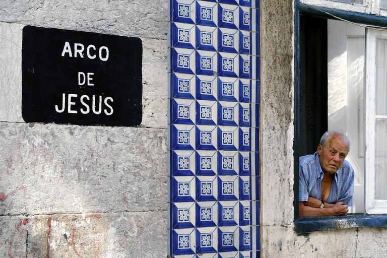 Arco de Jesus, Alfama, Lisbon, Portugal