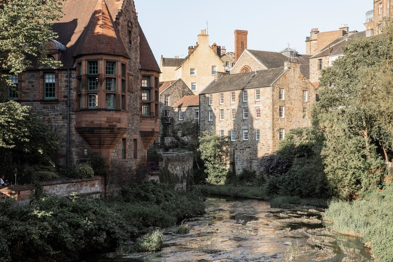 Stroll through Dean Village on a summer's day