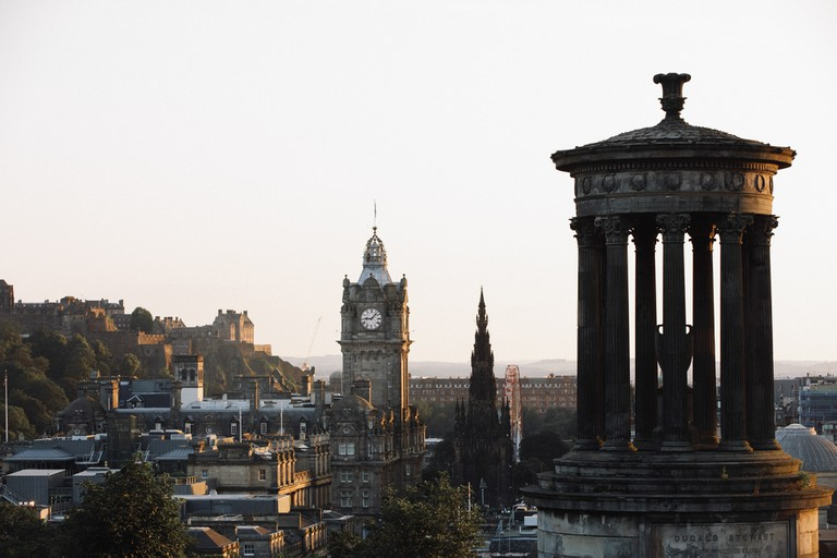 Calton Hill is a stone's throw from the hustle and bustle of Princes Street