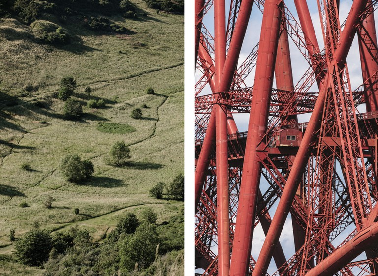 Enjoy views of the Scottish capital from Arthur's Seat (left) and the Forth Bridge
