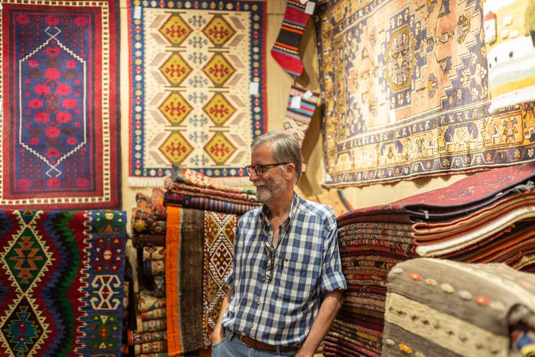Adnan and Hasan Anatolian carpet and kilim store in the heart of Istanbul's grand bazaar.