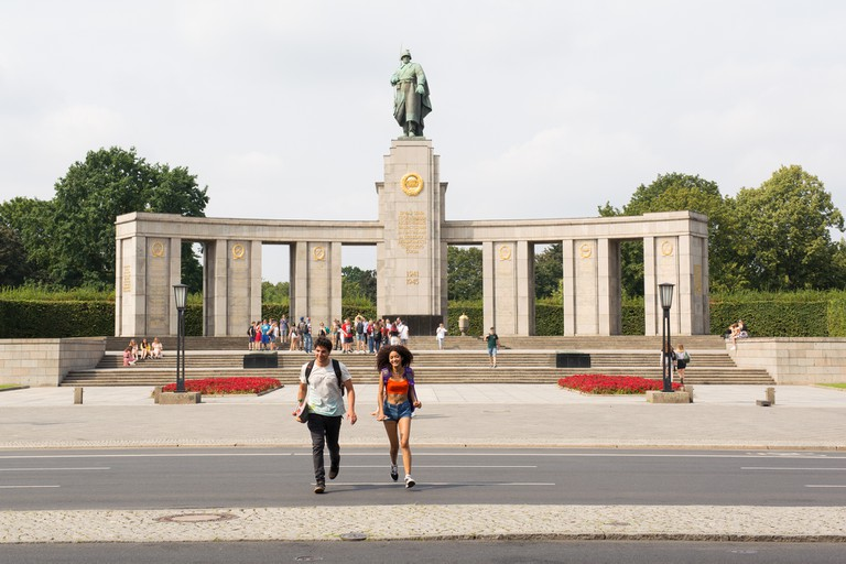The Tiergarten Soviet War Memorial constituted an Eastern bloc enclave within Allied territory