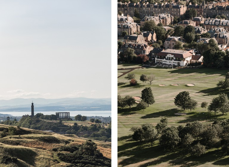 Head to Calton Hill (left) and The Meadows