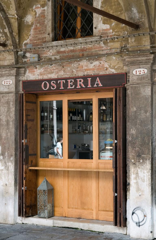 Osteria on Campo San Giacomo, San Polo, Venice, Italy.