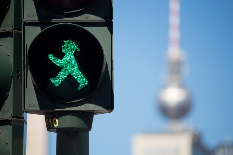 East Germany's Ost-Ampelmännchen was the world's first pedestrian crossing sign to feature a figure wearing a hat