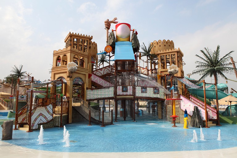 An attraction at Yas Waterworld in Abu Dhabi.