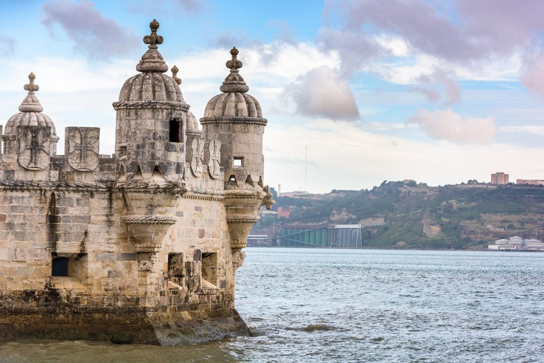 Turret of Belem Tower in Lisbon, Portugal.