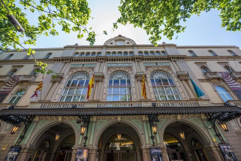 Gran Teatre del Liceu opera house at La Rambla street in Barcelona, Spain