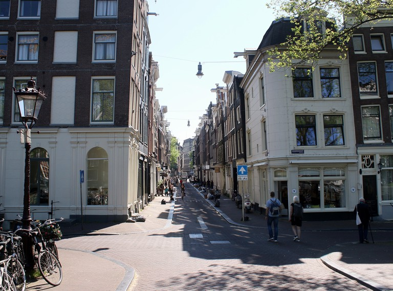 Negen Straatjes / Nine Streets shopping Area in Amsterdam.