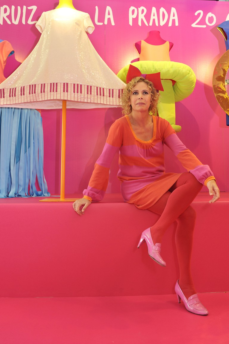 Agatha Ruiz de la Prada celebrates the 20th Anniversary of her brand at El Corte Ingles store in Madrid, Spain.