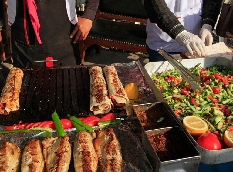 Delicious street food in Istanbul, Turkey